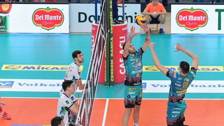 Volley: Superlega, Trento inarrestabile, batte e sorpassa Perugia