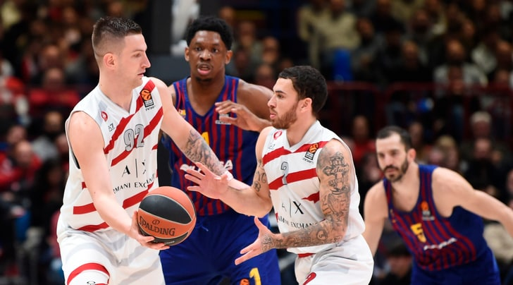 Basket, Eurolega: Heurtel-show, l'Olimpia Milano si arrende al Barcellona