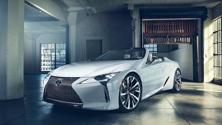 Lexus LC Convertible, concept al Salone di Detroit