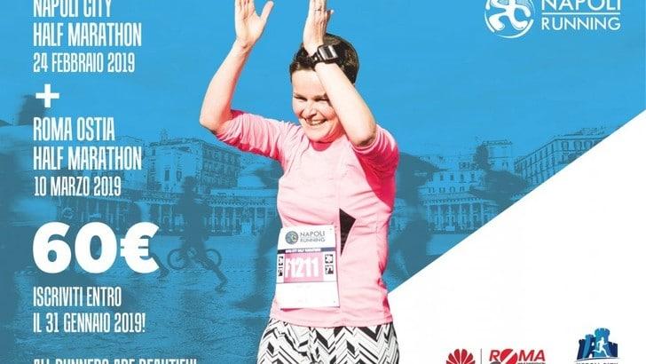 Napoli City Half Marathon e Roma Ostia, due gare in un unica iscrizione