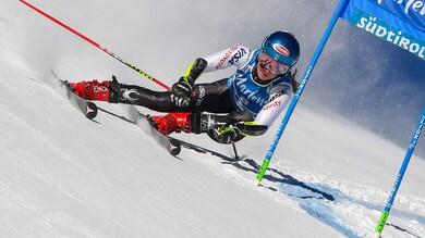 Mikaela Shiffrin trionfa a Kronplatz, sul podio Marta Bassino
