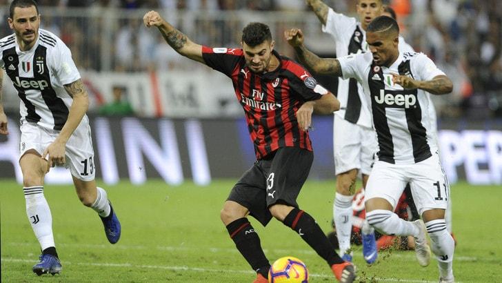 Supercoppa Juventus-Milan 1-0, il tabellino