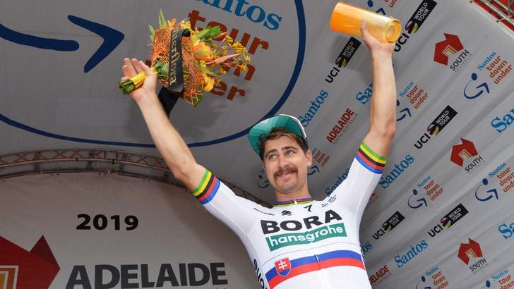 Ciclismo, Sagan vince la terza tappa del Tour Down Under e avvicina la vetta