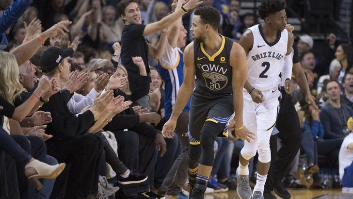 NBA, sette vittorie di fila per i Golden State Warriors. Out Gallinari, Belinelli ok