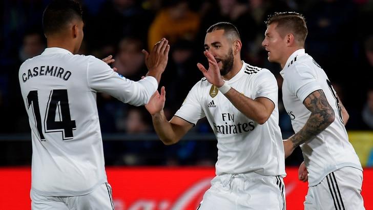 Liga: segnano Casemiro e Modric, il Real Madrid stacca il Siviglia