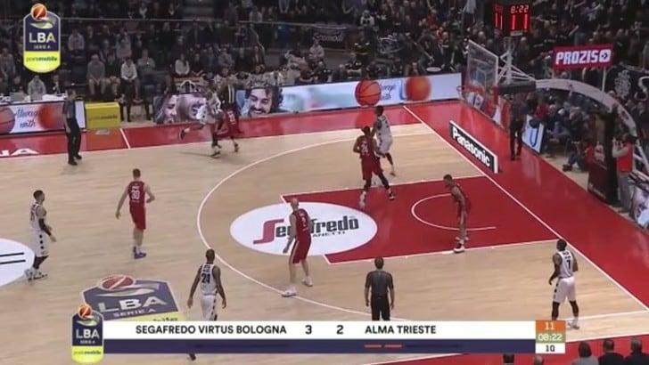Segafredo Virtus Bologna-Alma Trieste 82-74