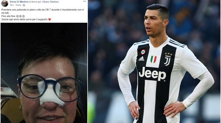 Una tifosa della Juventus colpita da Ronaldo:«Ora portami a cena!»