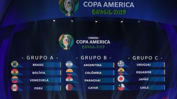 Coppa America 2019, gironi: il Brasile ha la Bolivia, l'Argentina con la Colombia