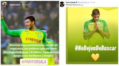 Il mondo del calcio si mobilita: «Non smettete di cercare Emiliano Sala»