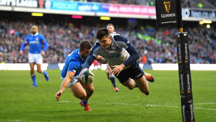 Rugby Sei Nazioni, la Scozia si impone su un'orgogliosa Italia al debutto