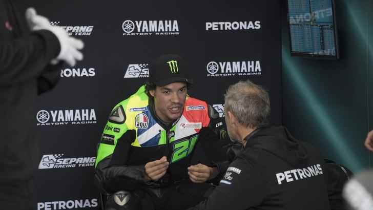 MotoGp Yamaha, Morbidelli: «Avrò la stessa moto di Rossi, bene per tutti e due»