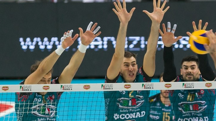Volley: Superlega, Perugia è più forte, Modena si arrende