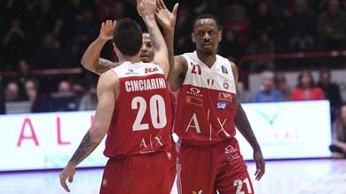 Basket, Serie A: vince l'Olimpia Milano, ma che cuore Pistoia