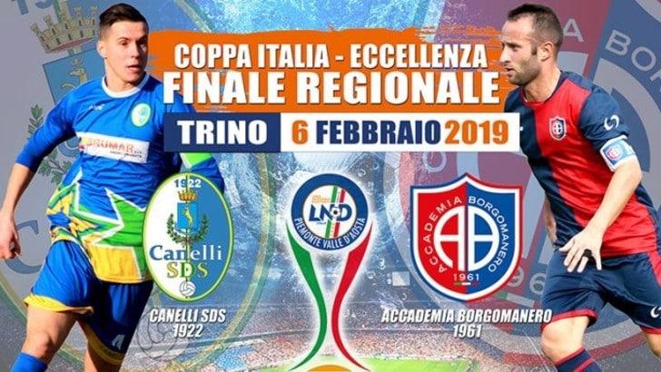 Coppa Italia Eccellenza - Mercoledì 6 febbraio finale regionale Canelli SDS-Accademia Borgomanero: ecco i convocati