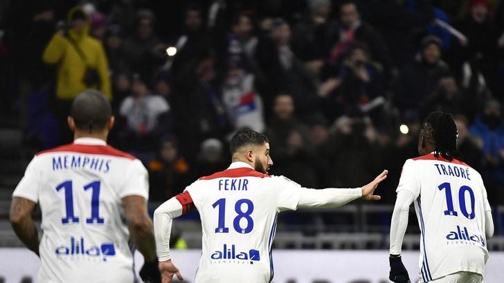 Ligue 1, il Lione torna al successo. 3-2 da brividi del Digione