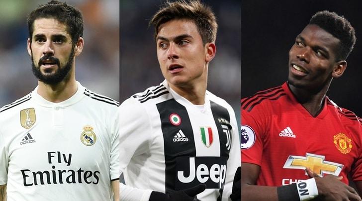 Juventus, se parte Dybala ecco Isco e blitz per Pogba