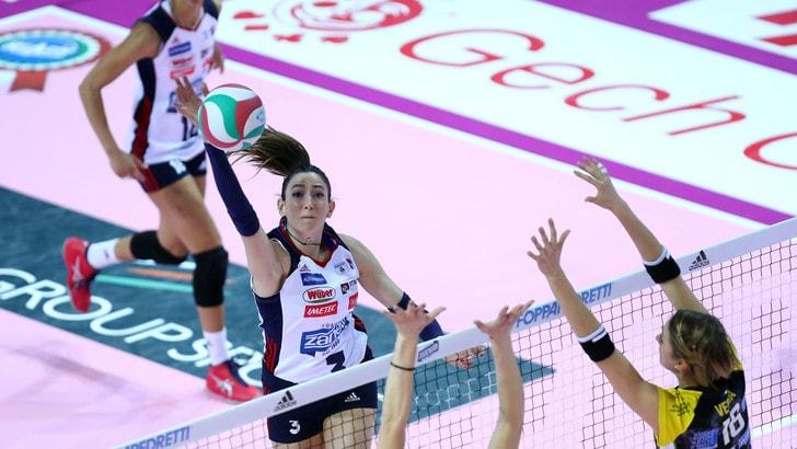 Volley: A1 Femminile, Bergamo in paradiso, vinto il derby con Brescia
