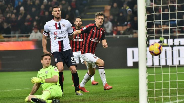 Serie A Milan-Cagliari 3-0, il tabellino