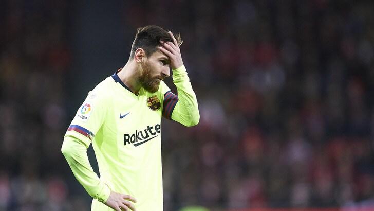 Liga: Ter Stegen salva il Barcellona, pareggio al San Mamés