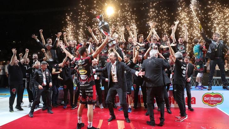 Volley: la Coppa Italia resta a Perugia, battuta la Lube in rimonta