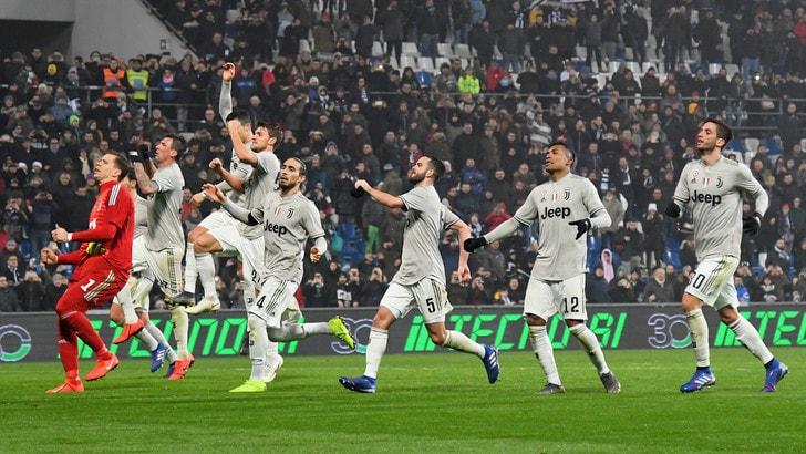 Serie A: Juve, quota blindata per lo scudetto