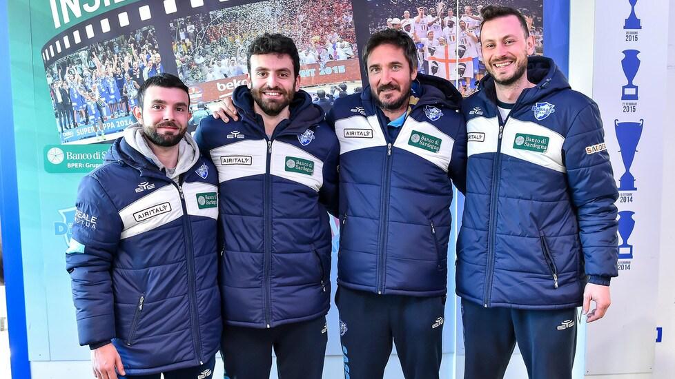 La presentazione del nuovo tecnico della Dinamo Banco di Sardegna dopo l'addio di Esposito