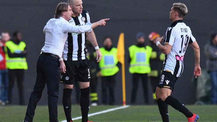 Serie A Udinese, Nicola: «Stiamo crescendo sotto la mia gestione»