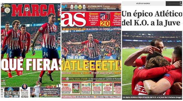 Stampa spagnola scatenata: «L'Atletico divora la Juventus»