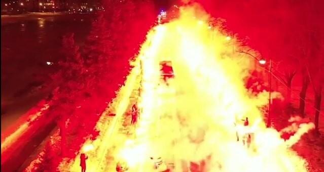 Zenit, il pullman tra due ali di fuoco. Marchisio: «Un inferno»
