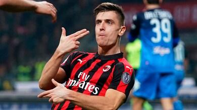 Piatek, Kessiè, Castillejo: Milan-Empoli 3-0 e -1 dall'Inter