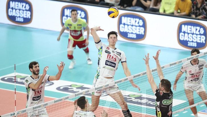 Volley: Superlega, Trento supera Padova e balza in vetta