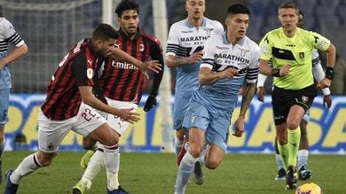 Coppa Italia Lazio-Milan 0-0, il tabellino