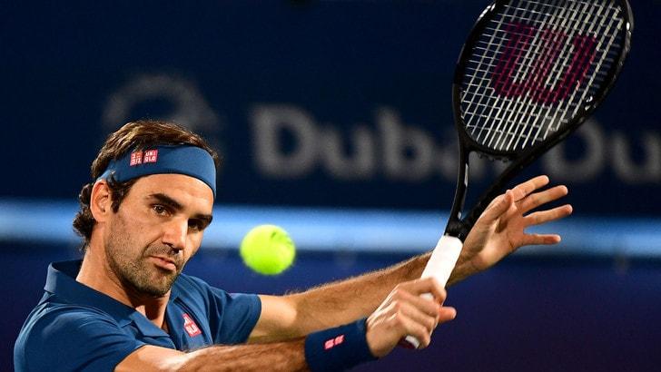 Tennis: Federer nei quarti a Dubai, Giannessi fuori a San Paolo