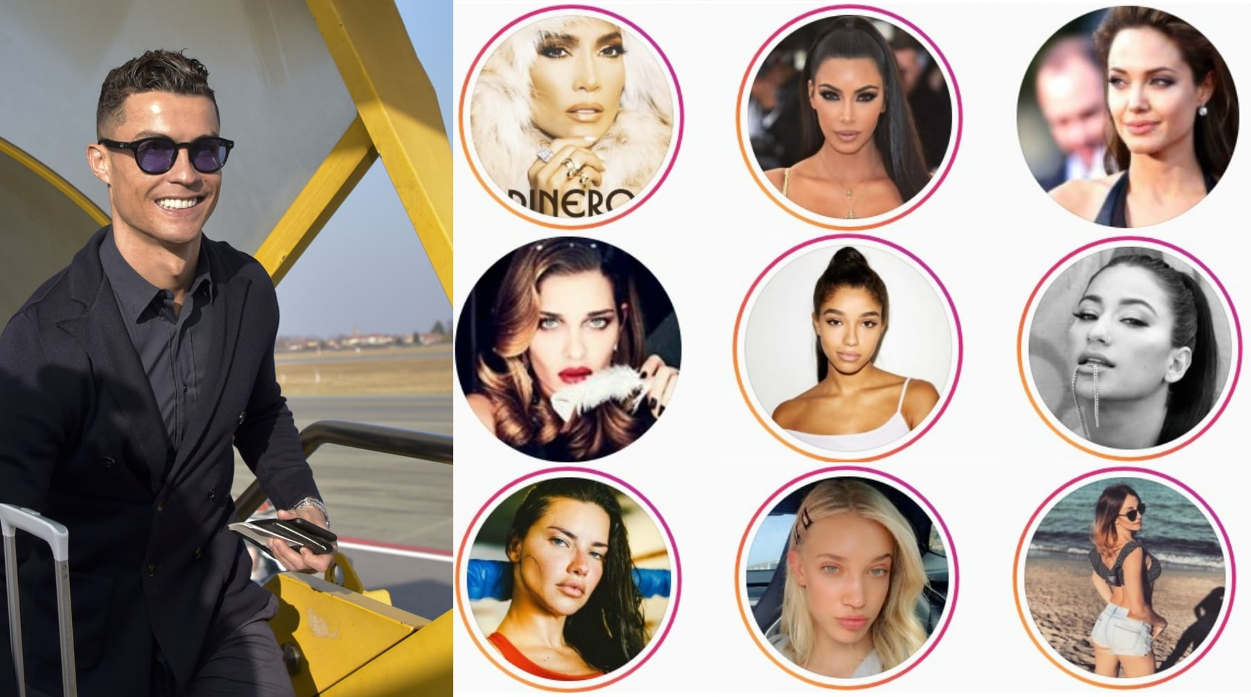 Juve, ecco tutte le 72 donne seguite da Ronaldo su Instagram