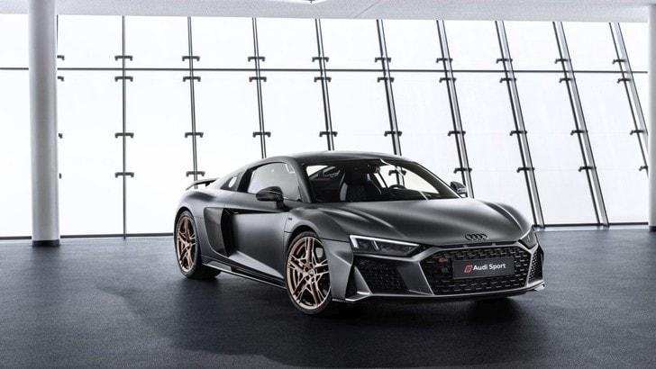 Audi R8 V10 Decennium, l'anniversario va di corsa
