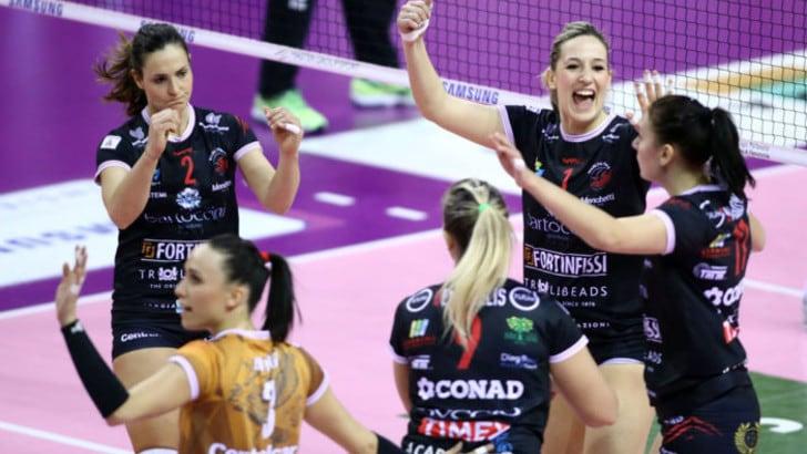 Volley: A2 Femminile, Mondovì non ferma Perugia, Trento e Soverato restano in scia