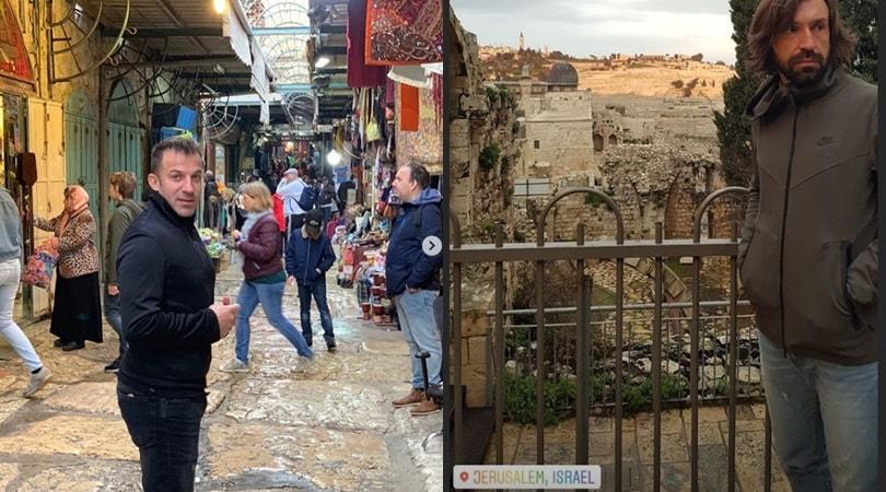 Pirlo e Del Piero insieme a Gerusalemme