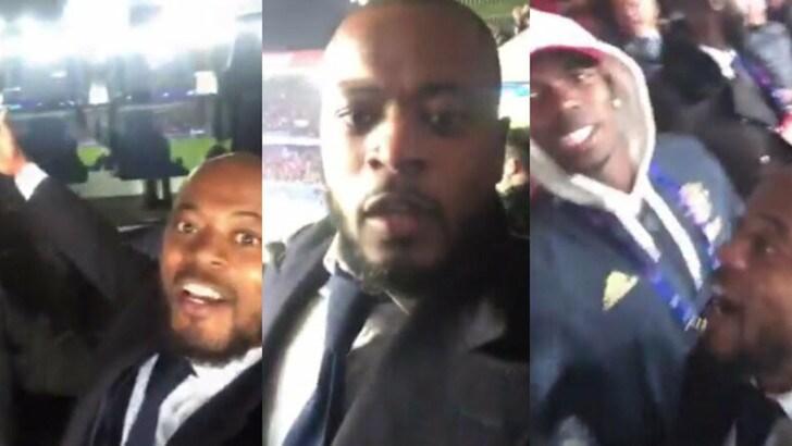 Show di Evra e Pogba in tribuna: i due ex Juve esultano per lo United