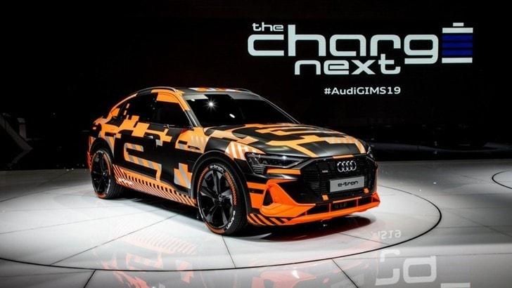 E-tron, nuova versione Audi: ecco il SUV coupé Sportback