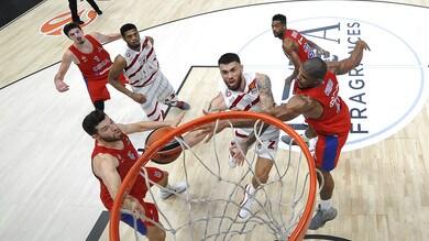 Basket, Eurolega: Olimpia Milano, niente impresa contro il CSKA