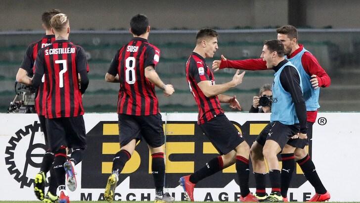 Serie A Chievo-Milan 1-2, il tabellino