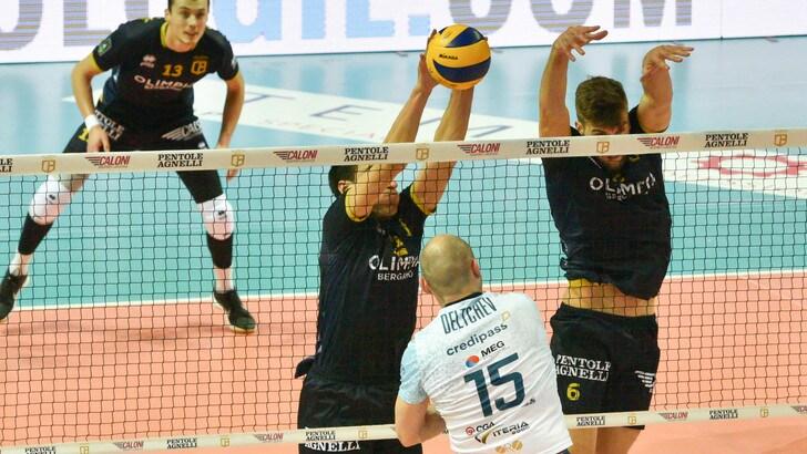 Volley: A2 Maschile, Girone Blu, Bergamo è nei Play Off, battuta Pordenone