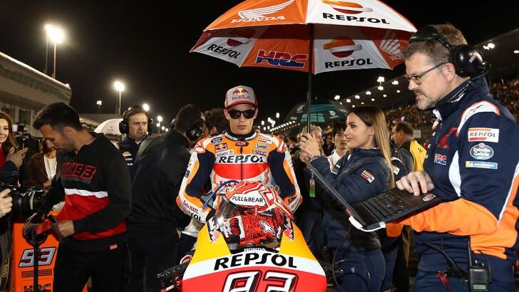MotoGp Qatar, Marquez: «Gara difficile, bene aver preso 20 punti»
