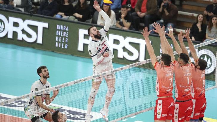 Volley: Superlega, Trento si riprende il secondo posto, Latina sbanca Sora
