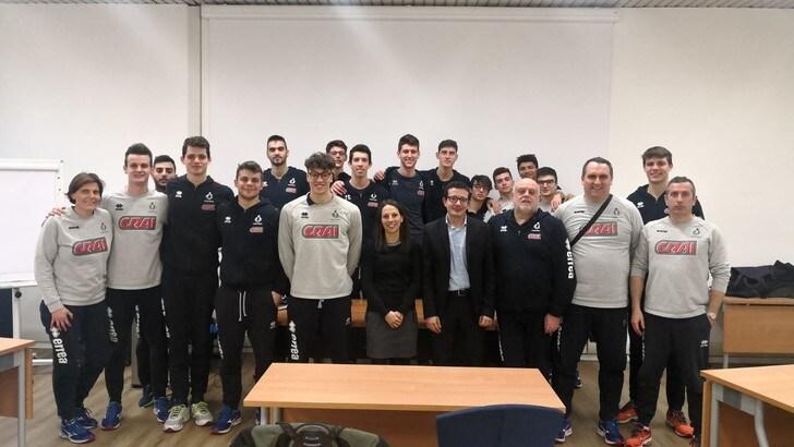 Volley: i ragazzi del Club Italia a lezione dagli astronauti