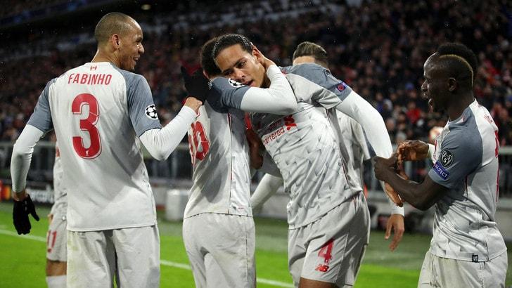 Champions League, spettacolo Liverpool: 3-1 al Bayern, Reds ai quarti