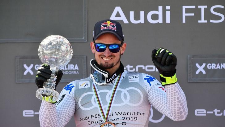 Sci, Dominik Paris re del SuperG. L'azzurro vince la Coppa di cristallo