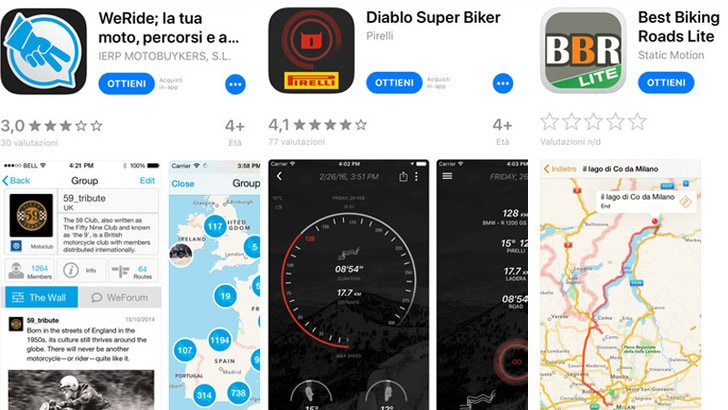 In sella con lo smartphone: le app per i bikers