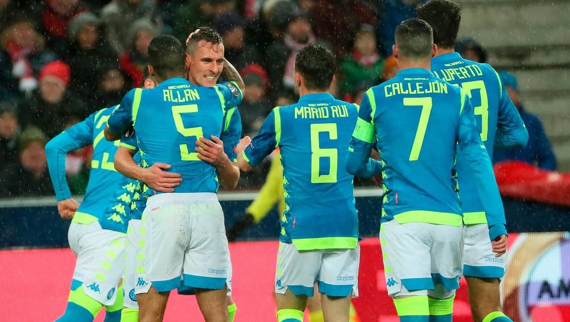 Europa League: Napoli ai quarti, sconfitta indolore a Salisburgo