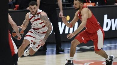 Eurolega: l'Olympia Milano domina l'Olympiacos, James dà spettacolo